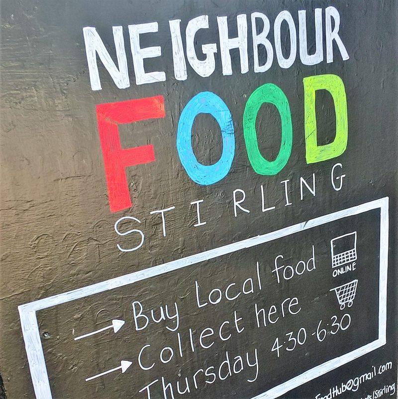 Board advertising Stirling NeighbourFood