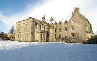 Snowy scene of Bannockburn House